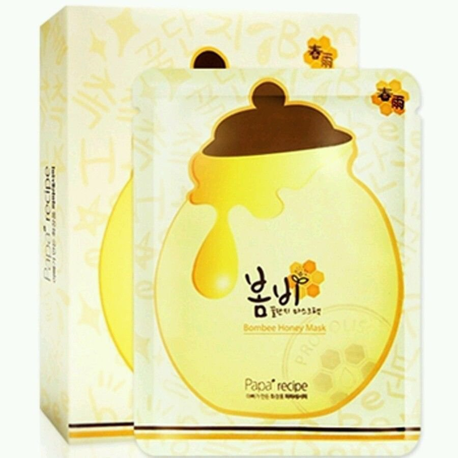 Papa Recipe Bombee Honey Mask Pack (5pieces)