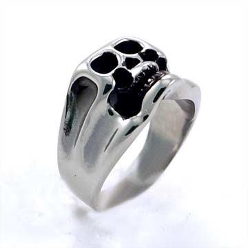 Smiling Skull Ring