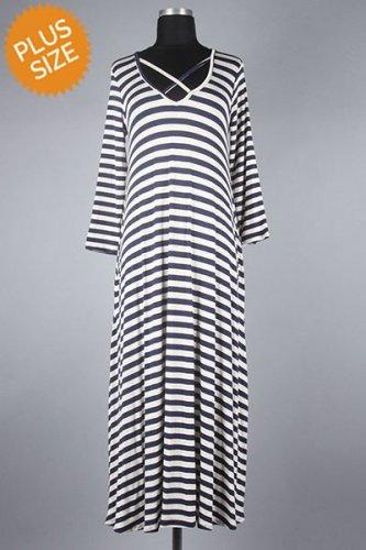 Casual Lightweight Pleated Knit Maxi Dress