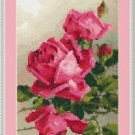 Cross-Stitch Embroidery Color Pattern with DMC codes - Beautiful Victorian Roses