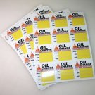 24 High Quality Generic Oil Change Service Reminder Stickers, Clear Static Cling