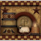 Primitive Country Folk Art Kitchen Refrigerator Magnet - Prim Country Life