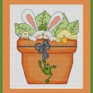 Cross-Stitch Embroidery Color Pattern DMC thread codes- Garden Friends