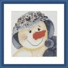 Cross-Stitch Embroidery Color Pattern with DMC thread codes - Mrs Snowman