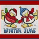 Cross-Stitch Embroidery Color Pattern with DMC thread codes - Winter Time