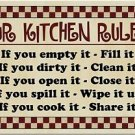 Primitive Country Folk Art Kitchen Refrigerator Magnet - Our Kitchen Rules