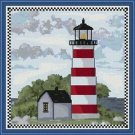 Cross-Stitch Embroidery Color Pattern with DMC codes - Summer Lighthouse #3