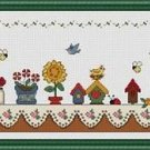 Cross-Stitch Embroidery Color Pattern with DMC codes - I Love Birds!