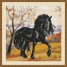 Cross-Stitch Embroidery Color PATTERN with DMC thread codes - Autumn Horse