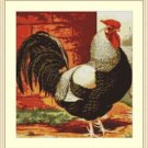 Cross-Stitch Embroidery Color Pattern with DMC codes - Beautiful Rooster