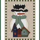 Cross-Stitch Embroidery Color Pattern with DMC thread codes-Country Christmas #2