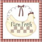 Primitive Country Folk Art Kitchen Refrigerator Magnet - Farm Fresh Chicken