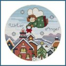 Cross-Stitch Embroidery Color Pattern with DMC codes - Cute Christmas Angel