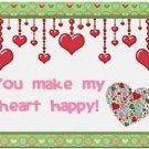 Cute Decor Collectible Kitchen Fridge Refrigerator Magnet - Make my Heart Happy