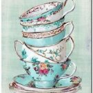 Beautiful Collectible Kitchen Fridge Refrigerator Magnet - Pretty Teacups