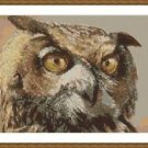 Cross-Stitch Embroidery Color Pattern with DMC codes - Beautiful Owl Head