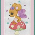 Cross-Stitch Embroidery Color Pattern DMC thread codes- Mouse Fairy