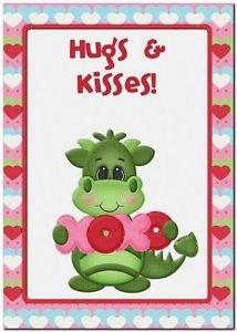 Cute Decor Collectible Kitchen Fridge Refrigerator Magnet - XOXO Love Dragon