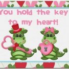 Cute Decor Collectible Kitchen Fridge Refrigerator Magnet - XOXO Love Dragons