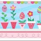 Cute Easter Decor Collectible Kitchen Fridge Refrigerator Magnet - Flower Eggs