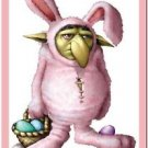 Cute Easter Decor Collectible Kitchen Fridge Refrigerator Magnet - Ugly Bunny