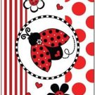 Beautiful Decor Design Collectible Kitchen Fridge Magnet - Ladybug & Flowers