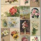 Beautiful Vintage Decor Collectible Kitchen Fridge Magnet - Flower Composation