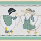 Cross-Stitch Embroidery Color Digital Pattern w. DMC codes - Country Chickens