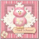 Beautiful Cute Decor Design Collectible Kitchen Fridge Magnet -Pretty Pink Owl