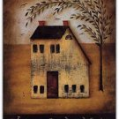 Primitive Country Folk Art Kitchen Refrigerator Magnet -Welcome Friends & Family