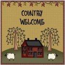 Primitive Country Folk Art Kitchen Refrigerator Magnet - Primitive Country House