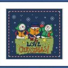 Cross-Stitch Embroidery Color Pattern with DMC thread codes-We Love Christmas #3