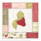 Beautiful Decor Design Collectible Kitchen Fridge Magnet - Patchwork Strawberry