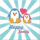 Beautiful Cute Decor Collectible Kitchen Fridge Magnet - Happy Family Penguins