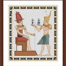 Cross-Stitch Embroidery Color Pattern w. DMC thread codes - The Pharaoh