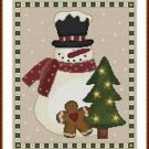 Cross-Stitch Embroidery Color Pattern with DMC thread codes-Country Christmas