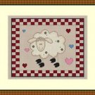Cross-Stitch Embroidery Color Digital Pattern w. DMC codes - Country Sheep