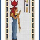 Cross-Stitch Embroidery Color Pattern with DMC codes - Princess of Egypt