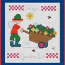 Cross-Stitch Embroidery Color Pattern with DMC codes - Albert the Garden Elf #3