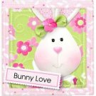 Beautiful Decor Design Collectible Kitchen Fridge Magnet - Cute Bunny Love