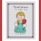 Cross-Stitch Embroidery Color Digital Pattern w. DMC codes - Thank Heaven #6