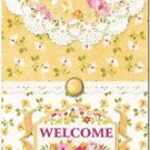 Beautiful Collectible Kitchen Fridge Refrigerator Magnet - Welcome with Flowers