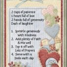 Primitive Country Folk Art Kitchen Refrigerator Magnet - Smile Each Day