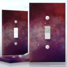 Wall Plate Toggle Light Switch Cover Vinyl Sticker Decal Decor - Red Nebula