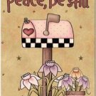 Primitive Country Folk Art Kitchen Refrigerator Magnet - Peace be Still