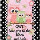 Beautiful Fun Decor Design Collectible Kitchen Fridge Magnet - Cute Owl Family
