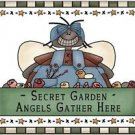 Primitive Country Folk Art Kitchen Refrigerator Magnet - Secret Garden Angel