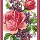 Primitive Country Folk Art Kitchen Refrigerator Magnet - Victorian Bouquet