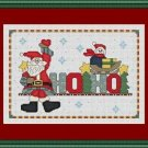 Cross-Stitch Embroidery Color Pattern with DMC codes - HOHOHO Cute Santa