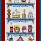Cross-Stitch Embroidery Color Digital Pattern w. DMC codes - Country Kitchen #2